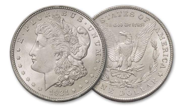 1921-S Morgan Silver Dollar BU   GovMint.com