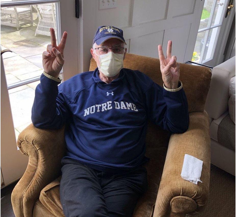 Notre Dame football's Terry Hanratty with coronavirus: 'How close ...