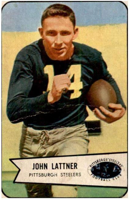 Amazon.com: 1954 Bowman #128 Johnny Lattner Pittsburgh Steelers Rookie  Football Card: Collectibles & Fine Art