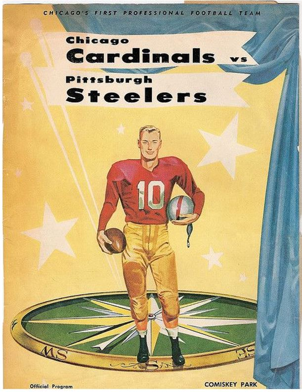Pittsburgh Steelers vs. Chicago Cardinals, 1958 | Steelers, Cardinals,  Professional football teams